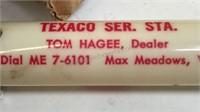 "Vintage Texaco Perpetually Calendar Keychain 3"""