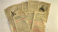 Collection of Antique Pages from Cracker Jack