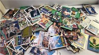 Box of mixed loose sports Cards