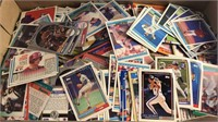 Box of Mixed Sports Cards and Pro Set Desert