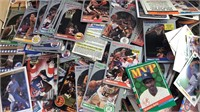 Box of Sports Cards Mixed Sports and Mfgs