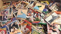 Box of Mixed Sports Trading Cards