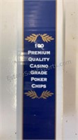 4 100 count poker chip boxes and 6 boxes of Joyin