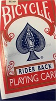 Box of 8 packs of Bicycle Rider Back Playing