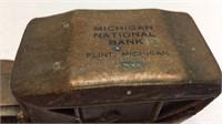 Vintage Michigan National Bank 1910 Stanley Metal