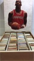 Box of Unsorted Basketball, Baseball, and Hockey