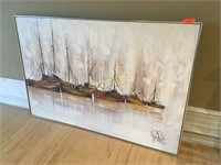 Canvas Sailboat Picture - 60 x 41