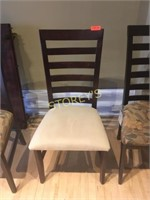 Maple Ladder Back Cushioned Dining Chair