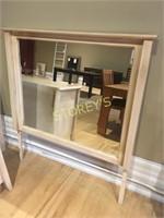 Ambrosia Maple Dresser Mirror - 44 x 48