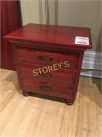 Solid Cherry Maple 3 Drawer Night Stand