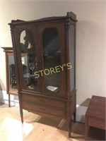 Solid Maple 2dr Glass Curio Cabinet - 40 x 18 x 75
