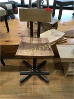 Ambrosia Maple Metal / Wood Bar Stool
