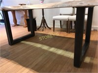 Live Edge / Glass Dining Table - 54 x 96