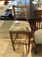 Maple Slat Back Cushioned Dining Room Chair