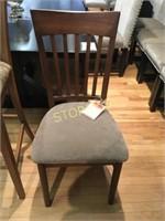 Slat Back Upholstered Dining Chair