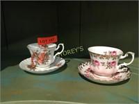 Pair of Royal Albert Tea Cups & Saucers