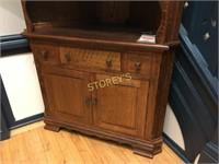 Oak Corner Cabinet - 44 x 19 x 84