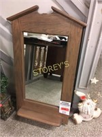 20 x 38 Oak Wall Mirror