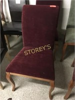 Maple Curved Back Red Dining Chair