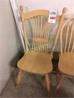 Oak Wheat-Sheaf w/ Rope Twist Chair