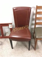 Red Leather Side chair