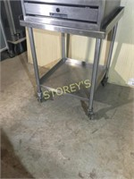All S/S Rolling Table - 30 x 30 x 36
