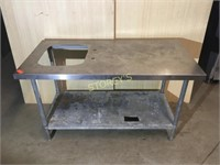 S/S 30 x 60 Work Table w/ Sink Hole (16 x 18)