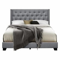 BRADY UPHOLSTERED WINGBACK PANEL BED KING