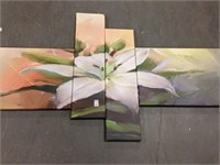 4 PIECES WALL DÉCOR PAINTING