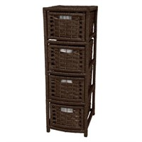 ORIENTAL FURNITURE 4-DRAWER MOCHA NATURAL