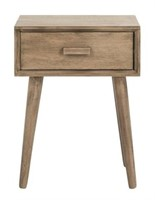 SAFAVIEH WALNUT ACCENT TABLE (NOT ASSEMBLED)