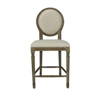 LOUIS WEATHER UPHOLSTERED ROUND