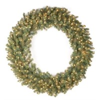 "NATIONAL TREE COMPANY 48"" FIR WREATH W/ WARM WHITE"
