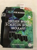 3 PCS JOE BOXER BRIEFS SIZE SMALL