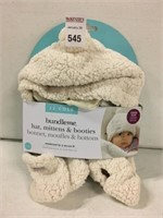 JJ COLE BABY HAT, MITTENS, AND BOOTIES SET