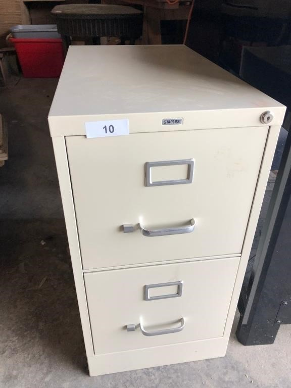 Staples 2 Drawer Filing Cabinet Graber Auctions