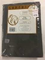 """SUPERIOR BED SKIRT KING SIZE 78""""X80"""" SILVER"""