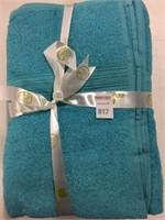 """SUPERIOR BATH TOWEL 4-PIECE SET SIZE 27""""X54"""" BLUE"""