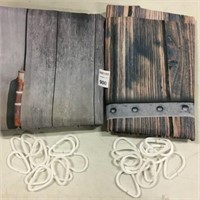2PC ASSORTED CURTAINS