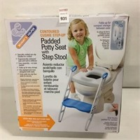 MOMMYS HELPER PADDED POTTY SEAT WITH STEP STOOL
