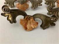Lot of Excellent Bakelite-Brass Drawer Handles