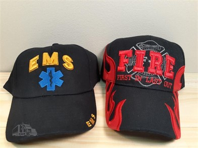 2 HATS EMS FIRE FIRST IN LAST OUT NEW Other Items For Sale