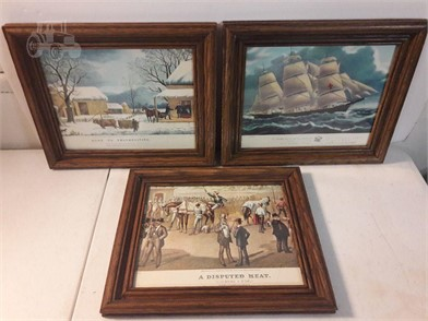 3 MID CENTURY FRAMED PICTURES Other Items For Sale 1