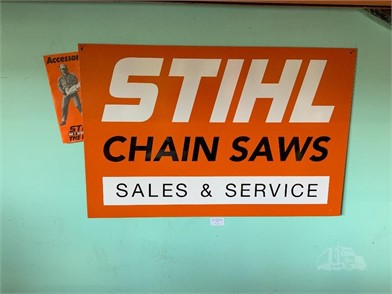 A PERSPEX STIHL CHAINSAWS SIGN Other Items For Sale 1