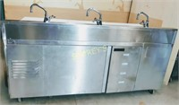 H & K Combination 5 Well Steam Table w/ 2dr Ref