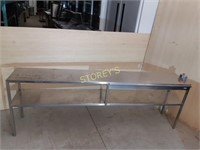 "S/S Dbl Pass Thru Shelf - 88"" x 15"" x 30"""