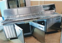"""99"""" Delfield Refrigerated Pizza Table"""