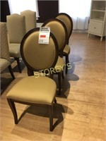 Maple Oval Back Cushioned Dining Chair