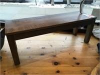 Ambrosia Maple Rough-Sawn Bench - 48 x 15 x 18