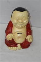 "Large Buddha Coin Bank 10"" Tall"